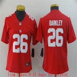 Women Giants #26 Saquon Barkley Jersey